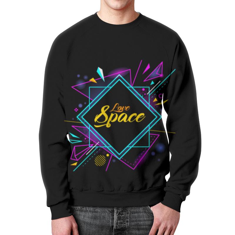 Printio Love space свитшот унисекс с полной запечаткой printio космос space