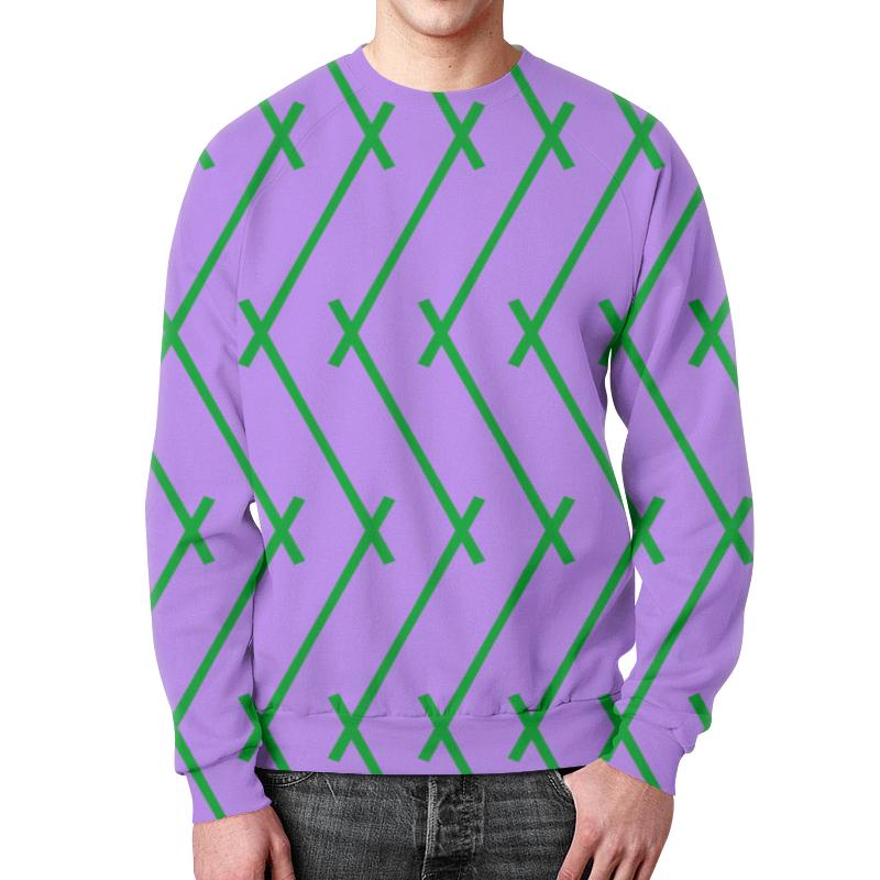 Фото - Printio Зеленые полосы свитшот мужской с полной запечаткой printio зеленые линии