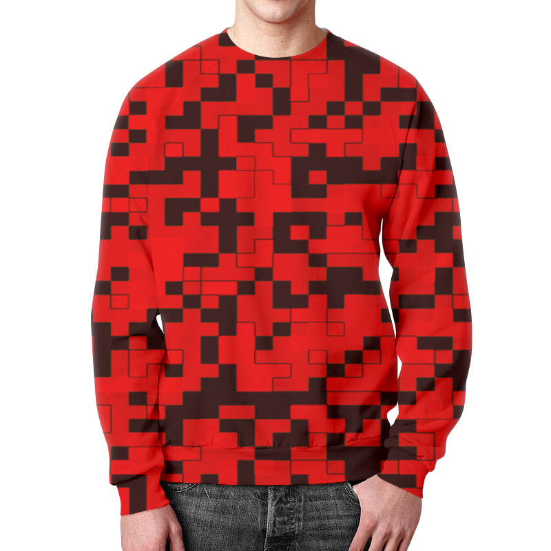 Свитшот мужской с полной запечаткой Printio Красный камуфляж свитшот мужской с полной запечаткой printio камуфляж