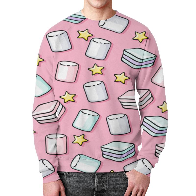 Свитшот мужской с полной запечаткой Printio Зефир футболка с полной запечаткой для девочек printio воздушный зефир