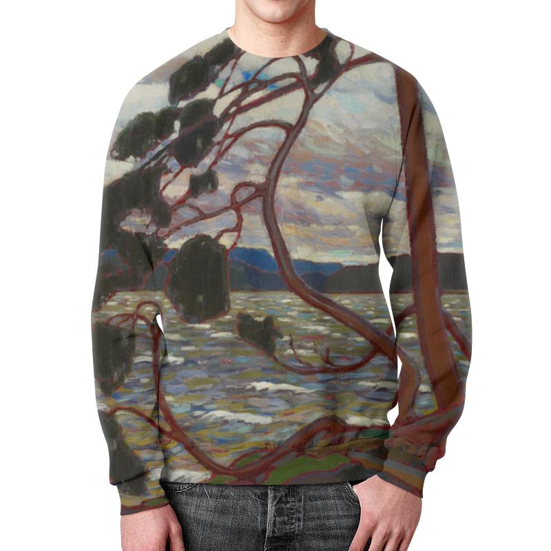 Свитшот мужской с полной запечаткой Printio Западный ветер (том томсон) цены онлайн