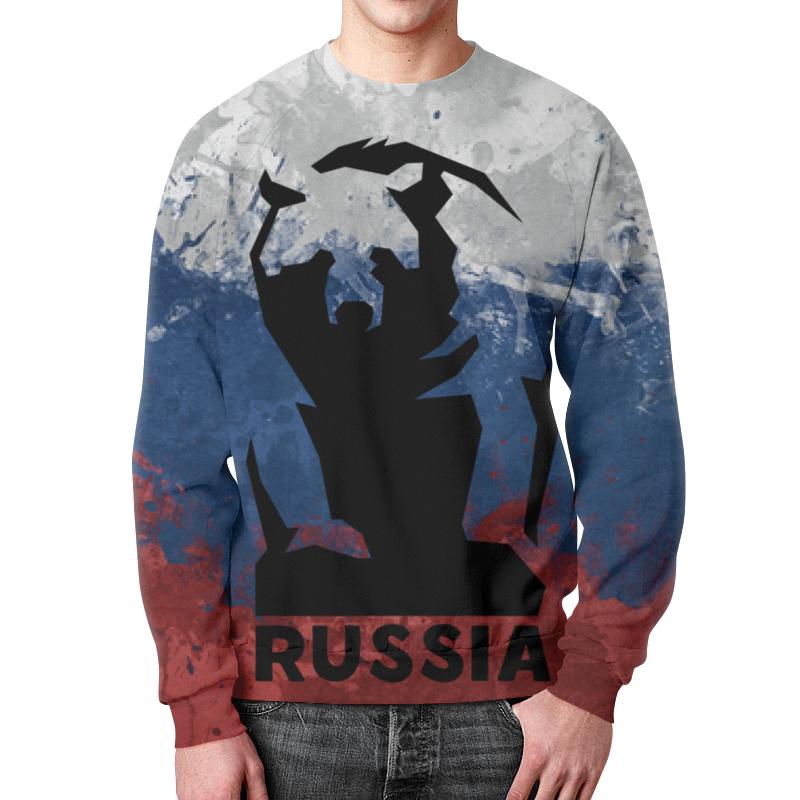 Свитшот унисекс с полной запечаткой Printio Русский медведь (russian bear) лонгслив printio bear beer медведь и мед