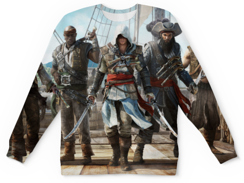 Свитшот унисекс с полной запечаткой Printio Assassin's creed black flag assassin s creed 4 black flag essentials [ps3]