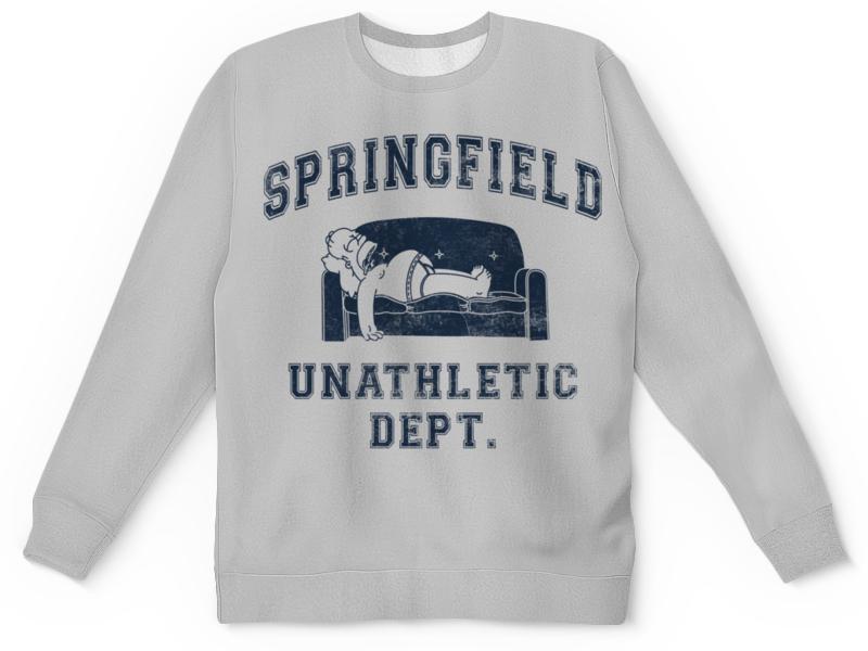Свитшот унисекс с полной запечаткой Printio Springfield unathletic dept футболка springfield springfield sp014emrkf75