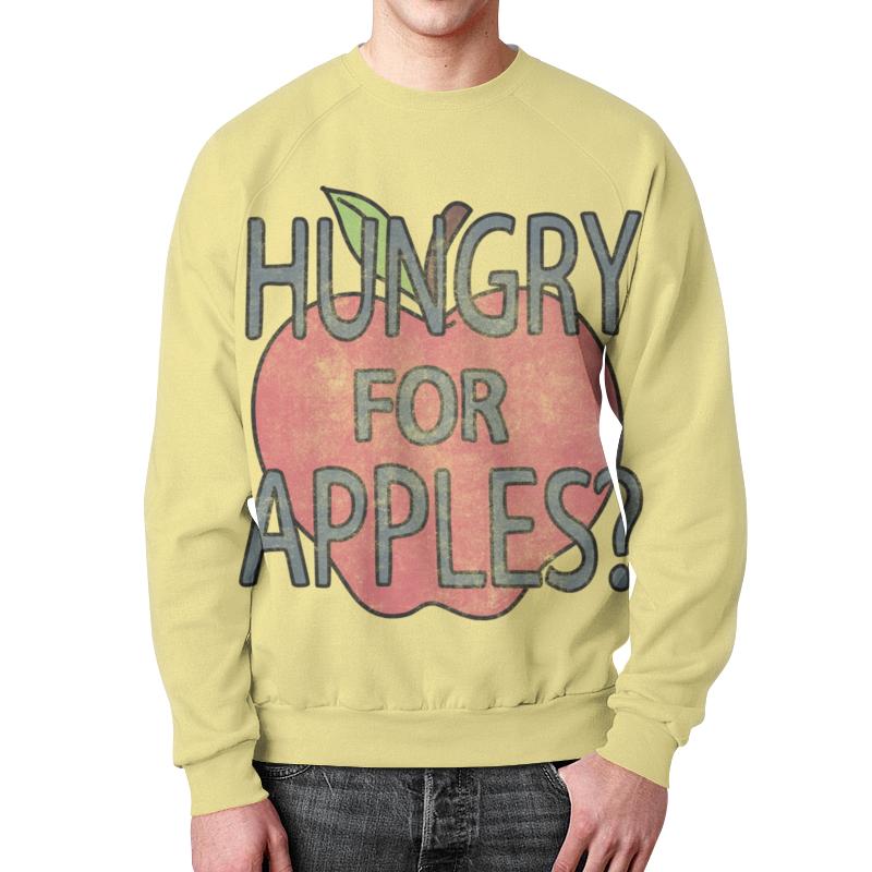 Фото Свитшот мужской с полной запечаткой Printio Hungry for apples? рик и морти