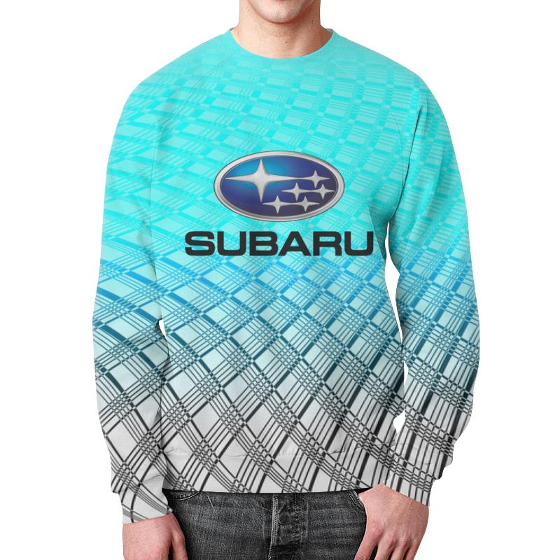 Свитшот мужской с полной запечаткой Printio Subaru молдинги subaru 15
