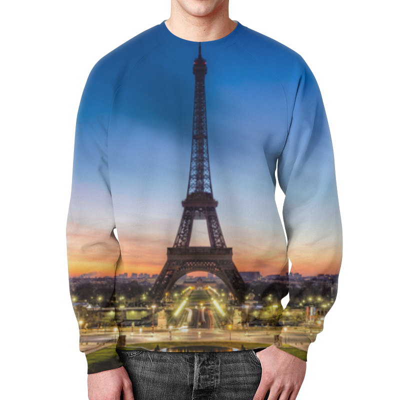 Свитшот мужской с полной запечаткой Printio Париж