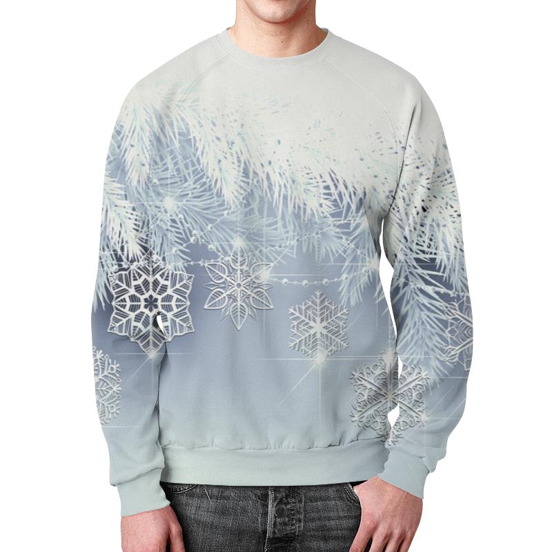 Свитшот мужской с полной запечаткой Printio Снежная елка подушка 40х40 с полной запечаткой printio снежная елка