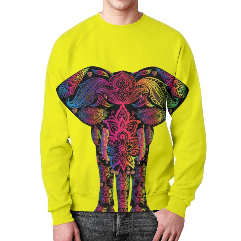 Свитшот унисекс с полной запечаткой Printio Саванный слон свитшот унисекс с полной запечаткой printio tribal elephant слон