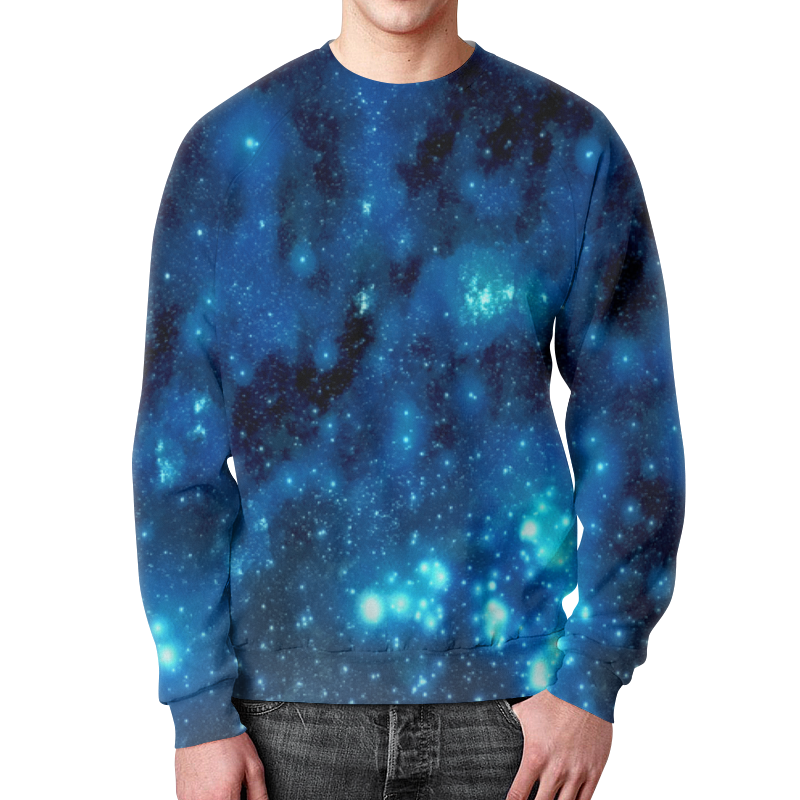 Свитшот унисекс с полной запечаткой Printio Звездное небо картленд б звездное небо гонконга