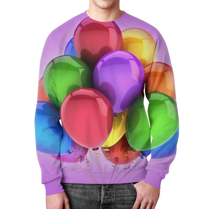 Свитшот мужской с полной запечаткой Printio Воздушные шары футболка с полной запечаткой женская printio разноцветные воздушные шары