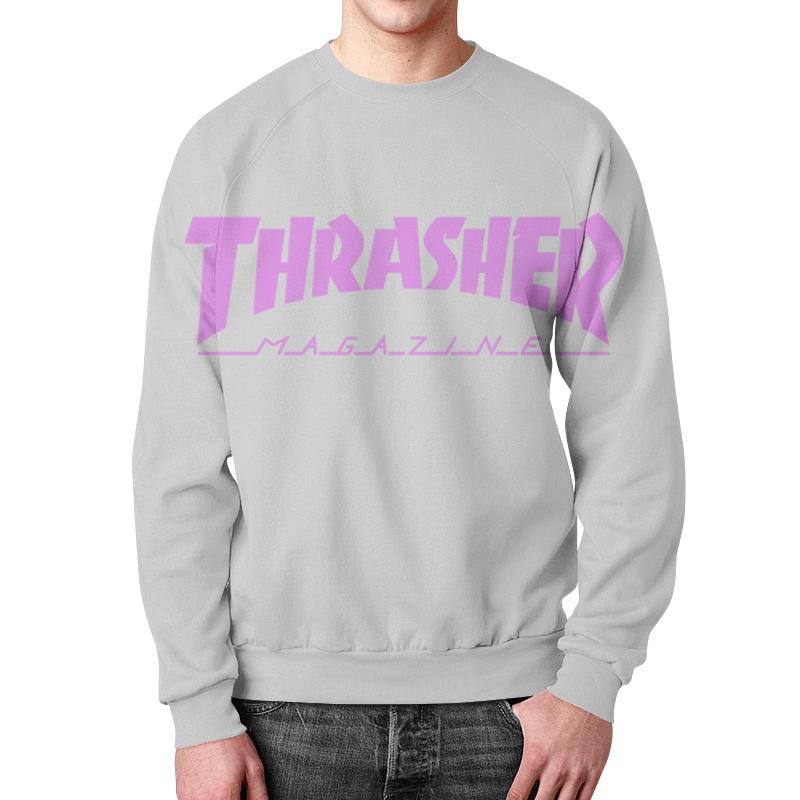 Свитшот мужской  полной запечаткой Printio Thrasher pink