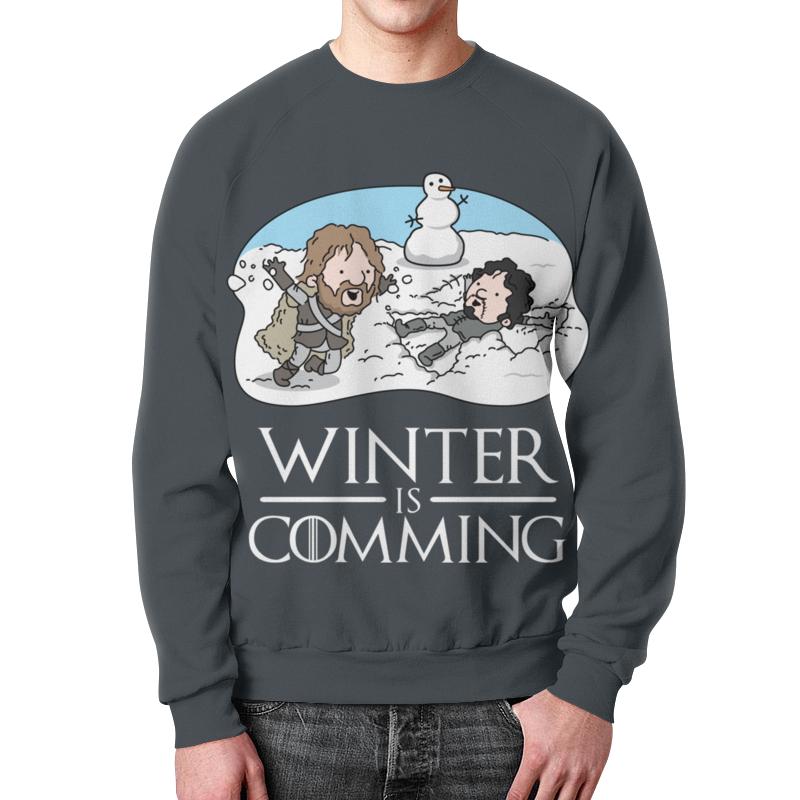Свитшот унисекс с полной запечаткой Printio Зима близко футболка с полной запечаткой для девочек printio зима близко
