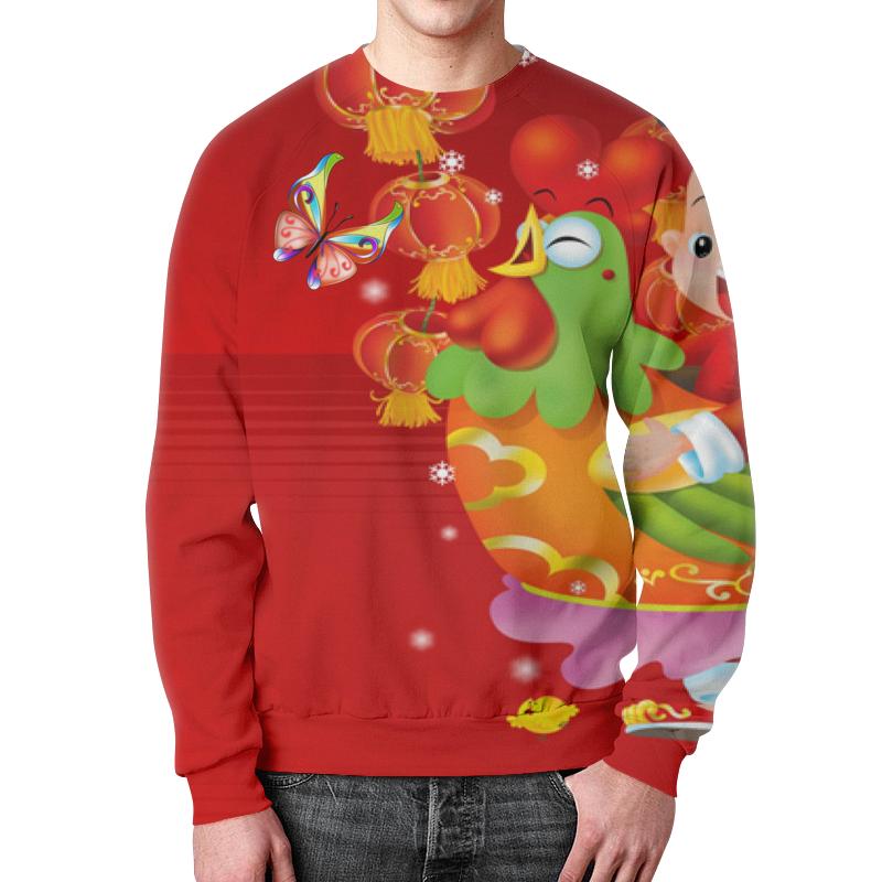 Свитшот унисекс с полной запечаткой Printio Год красного петуха 2017. футболка с полной запечаткой мужская printio новый год красного петуха 2017