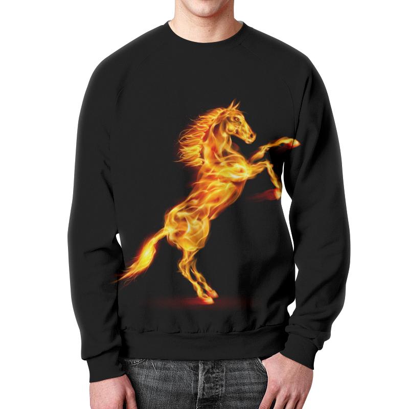 Свитшот мужской с полной запечаткой Printio Огненная лошадь футболка с полной запечаткой мужская printio огненная лошадь