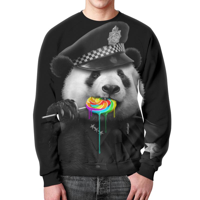 Свитшот мужской с полной запечаткой Printio Панда коп свитшот унисекс с полной запечаткой printio панда коп