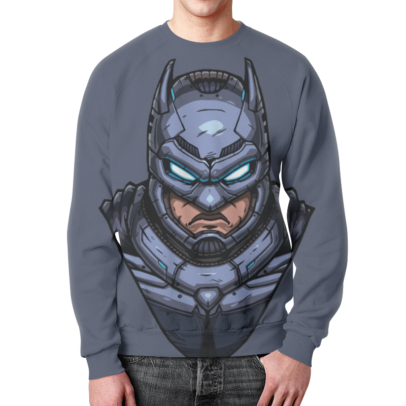 Свитшот унисекс с полной запечаткой Printio Armored batman /бэтмен в броне huong movie 30cm batman v superman dawn of justice the dark night batman armored blinde pvc figure collectible model toys