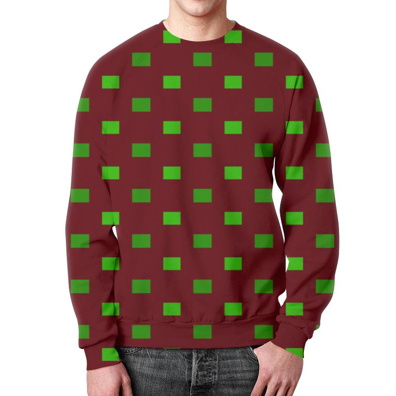 Фото - Printio Зеленые квадраты свитшот мужской с полной запечаткой printio зеленые линии