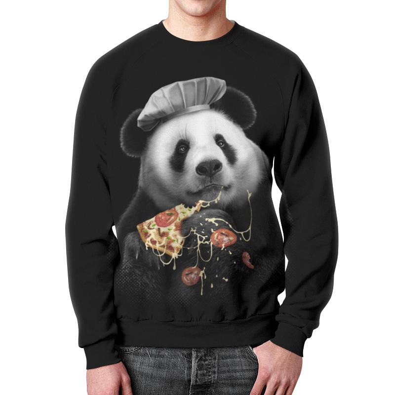 Свитшот унисекс с полной запечаткой Printio Панда ест пиццу свитшот унисекс с полной запечаткой printio мишки панда