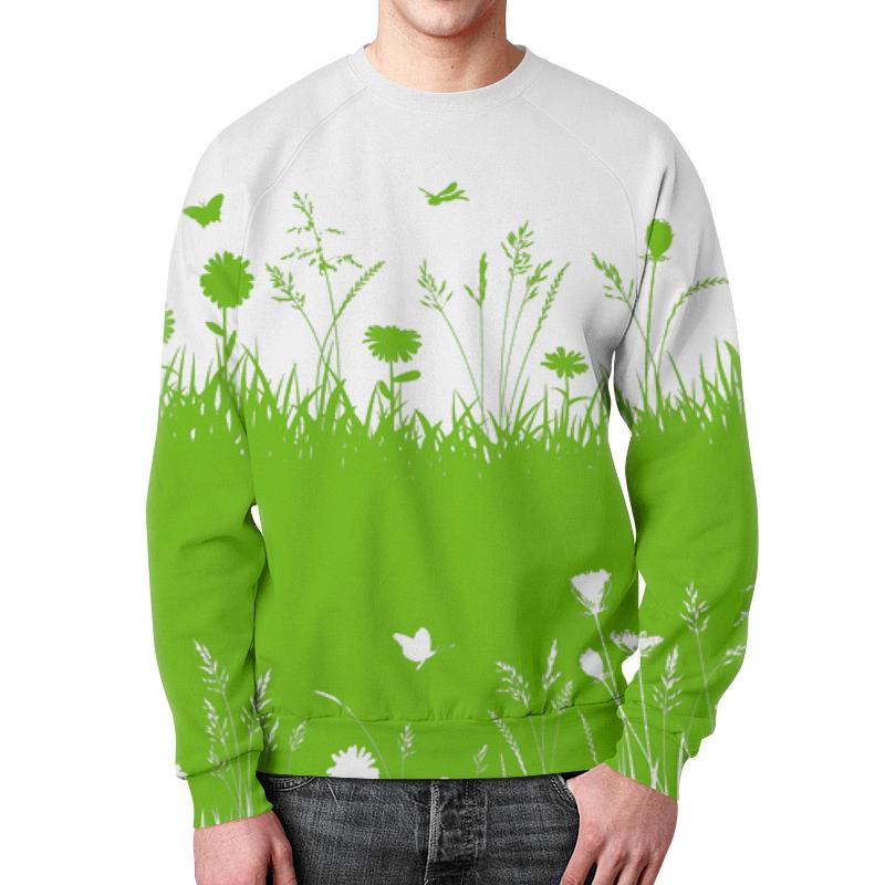 Свитшот мужской с полной запечаткой Printio Летняя трава биолит трава ромашки 100 г