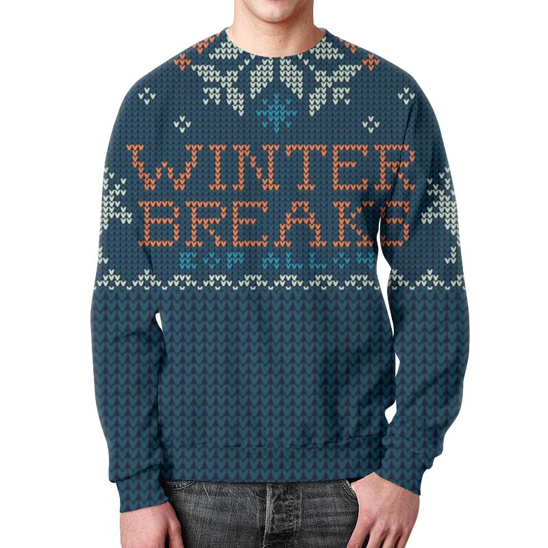 Свитшот мужской с полной запечаткой Printio Свитер с оленями (1) свитшот унисекс с полной запечаткой printio свитер с оленями 1