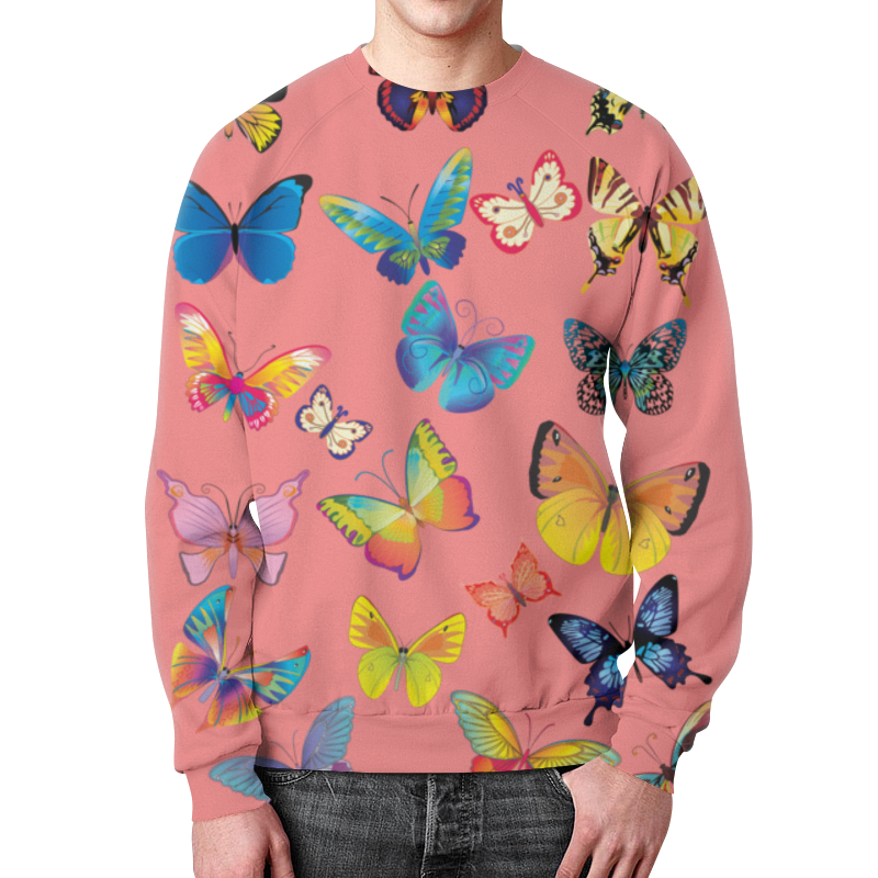 Свитшот унисекс с полной запечаткой Printio Бабочка бабочка eton бабочка