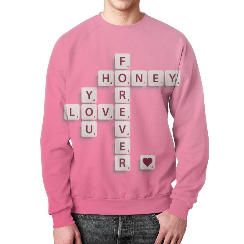 Свитшот мужской с полной запечаткой Printio Love forever forever in love