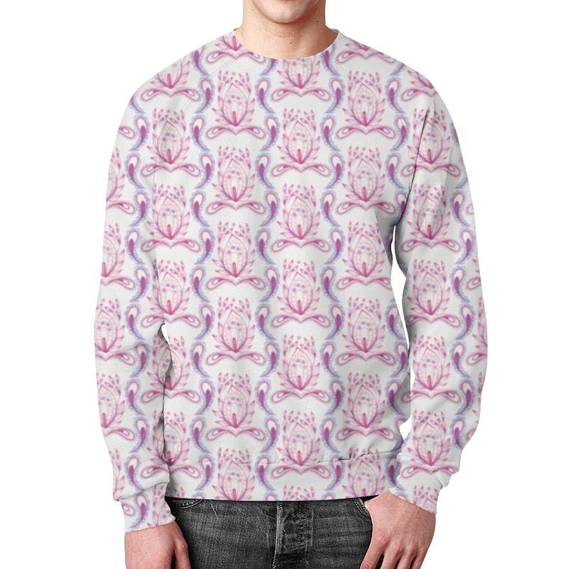 Свитшот мужской с полной запечаткой Printio Розовый узор свитшот мужской с полной запечаткой printio розовый полет