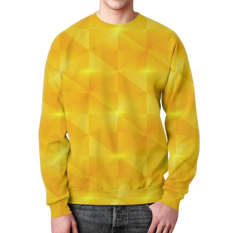 Свитшот унисекс с полной запечаткой Printio Желтые квадраты свитшот унисекс с полной запечаткой printio желтые розы