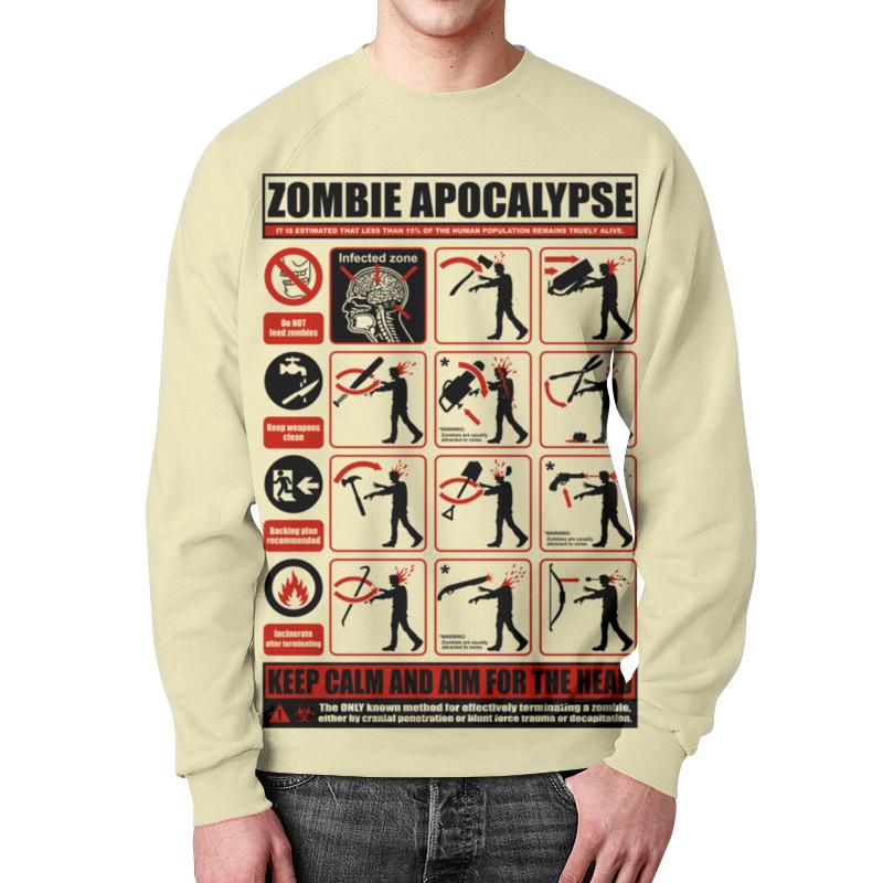 Свитшот унисекс с полной запечаткой Printio Зомби апокалипсис. по выживанию