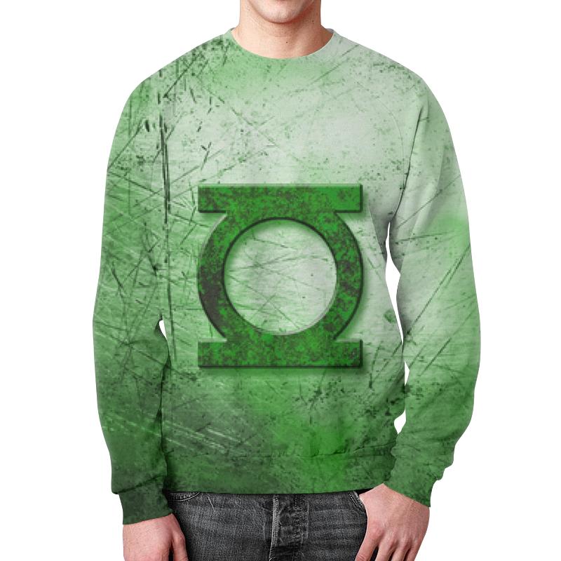 Свитшот мужской с полной запечаткой Printio Зелёный фонарь (green lantern) green lantern secret origin new edition mti