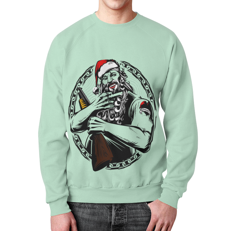 Свитшот унисекс с полной запечаткой Printio Дед мороз фигурки sweet home ёлочное украшение дед мороз