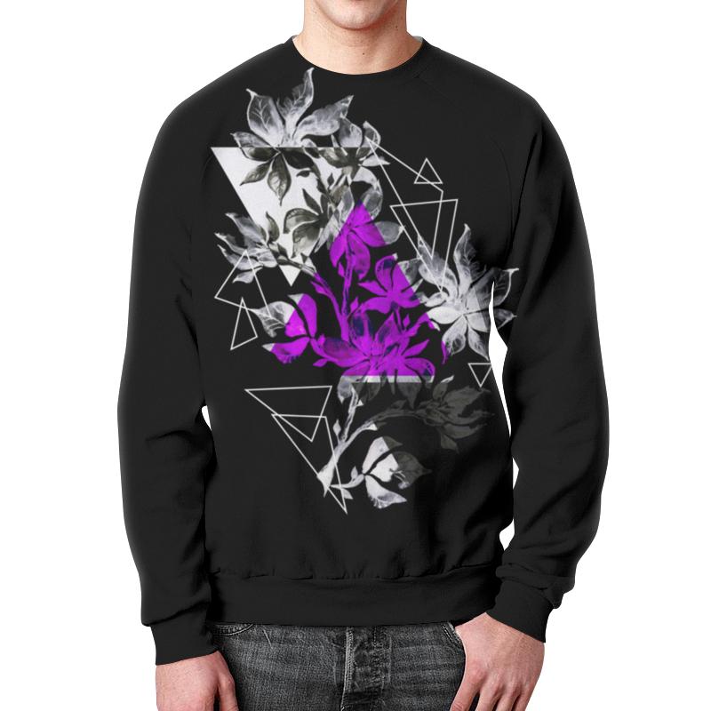 Свитшот мужской с полной запечаткой Printio Современный дизайн треугольники и цветы halojaju современный и контрактный