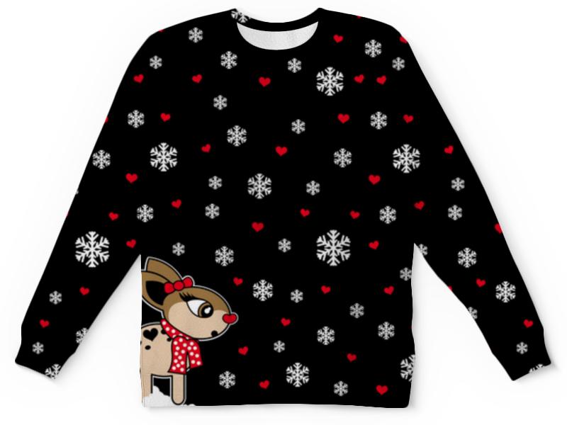 Свитшот унисекс с полной запечаткой Printio Новогодний свитер