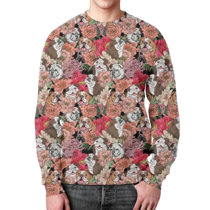 Свитшот мужской с полной запечаткой Printio Dogs and flowers свитшот мужской с полной запечаткой printio drum and bass