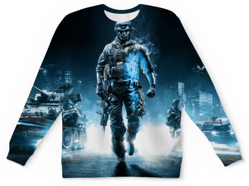 Свитшот унисекс с полной запечаткой Printio Солдат (battlefield) футболка с полной запечаткой для мальчиков printio солдат battlefield