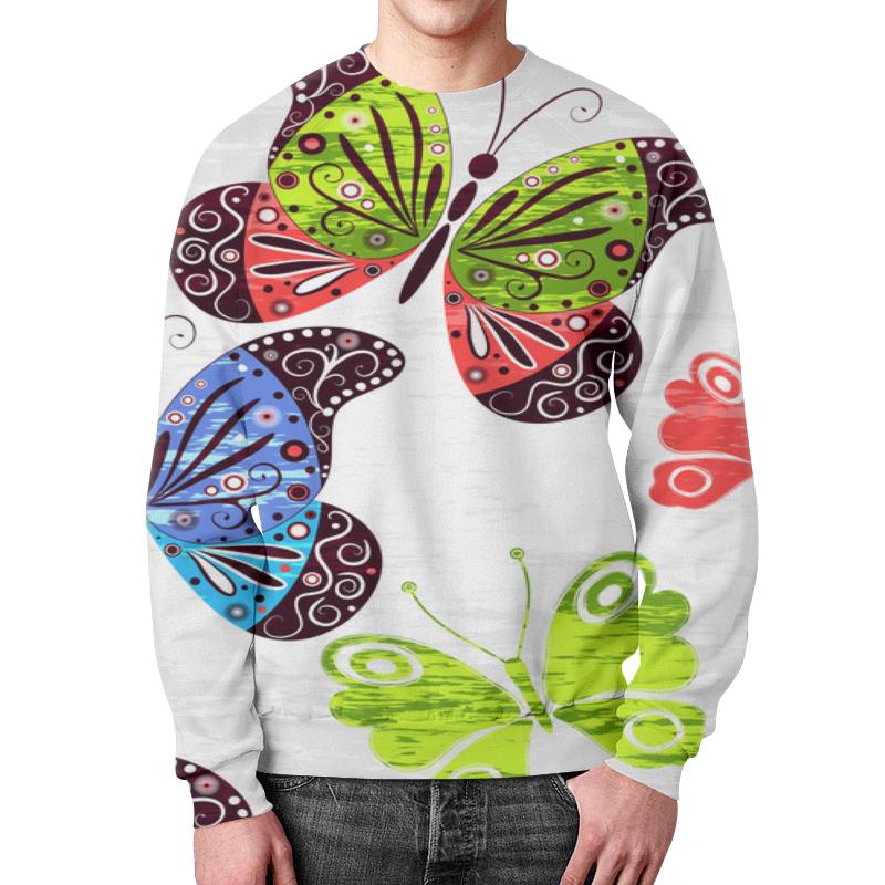 Свитшот унисекс с полной запечаткой Printio Насекомые насекомые от цветов