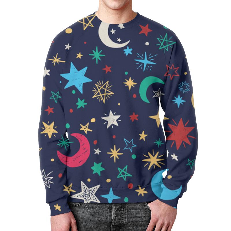 Свитшот унисекс с полной запечаткой Printio Звёздное небо анатолий пушкарёв желудок мозг и звёздное небо