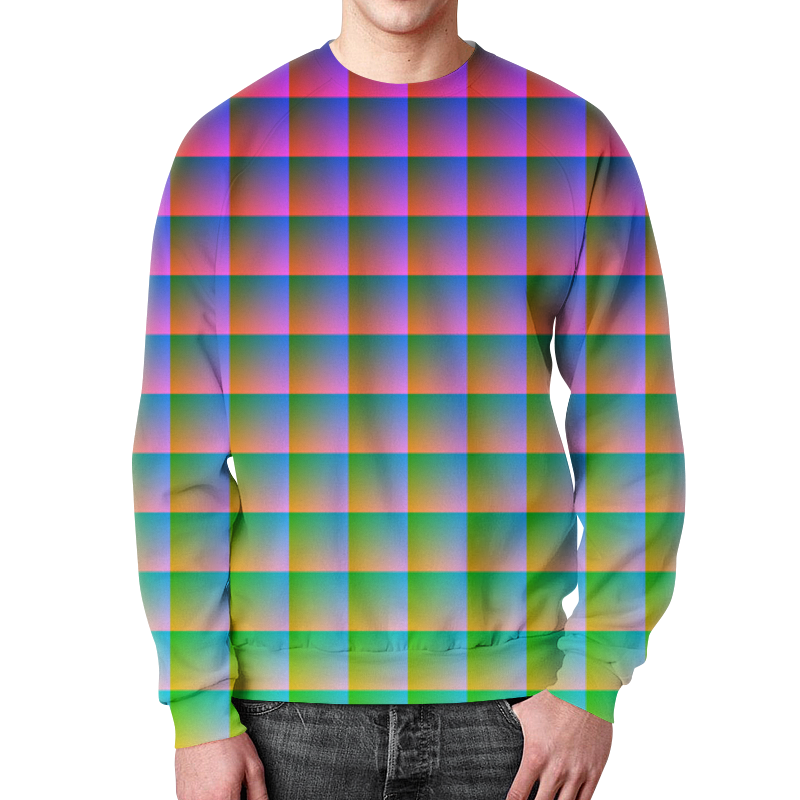 все цены на Свитшот мужской с полной запечаткой Printio Optical illusion в интернете