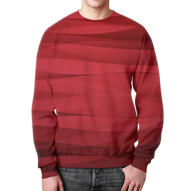 все цены на Свитшот мужской с полной запечаткой Printio Красная абстракция онлайн