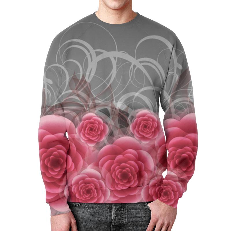 Свитшот унисекс с полной запечаткой Printio Красные розы свитшот унисекс с полной запечаткой printio желтые розы