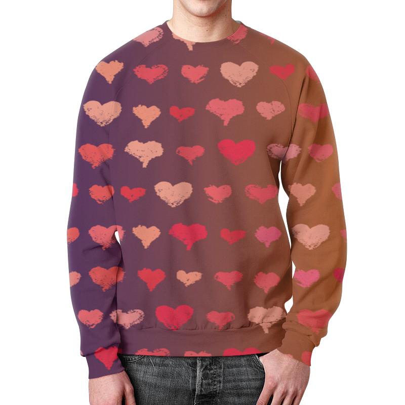 Свитшот мужской с полной запечаткой Printio Узор сердечек леггинсы printio узор сердечек