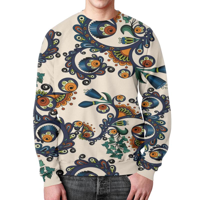 Свитшот мужской с полной запечаткой Printio Плетение цветов
