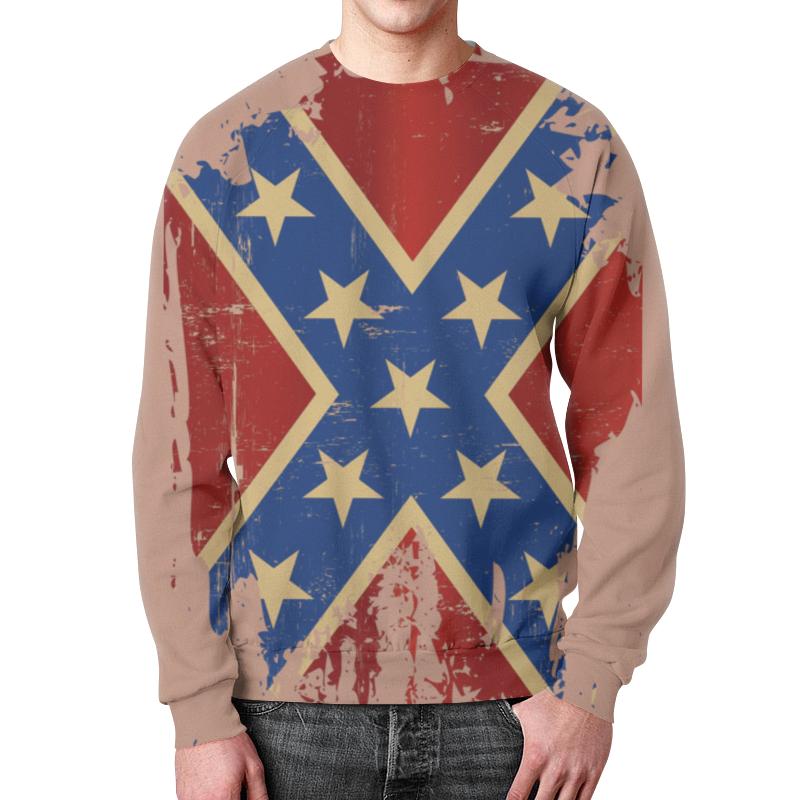 лучшая цена Свитшот мужской с полной запечаткой Printio Флаг конфедерации сша