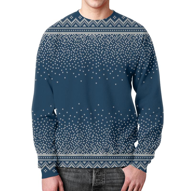 Свитшот мужской с полной запечаткой Printio Свитер красная фасоль hodo мужской моды жаккард свитер мужской шея свитер мужской синий 110 b1