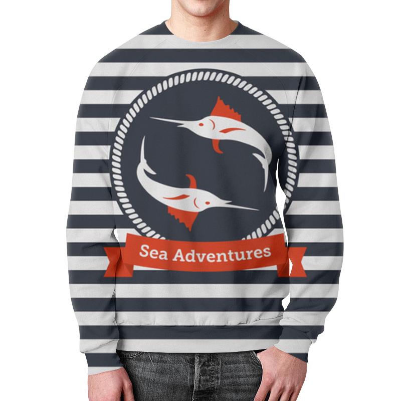 Свитшот унисекс с полной запечаткой Printio Морские приключения свитшот print bar морские мечты
