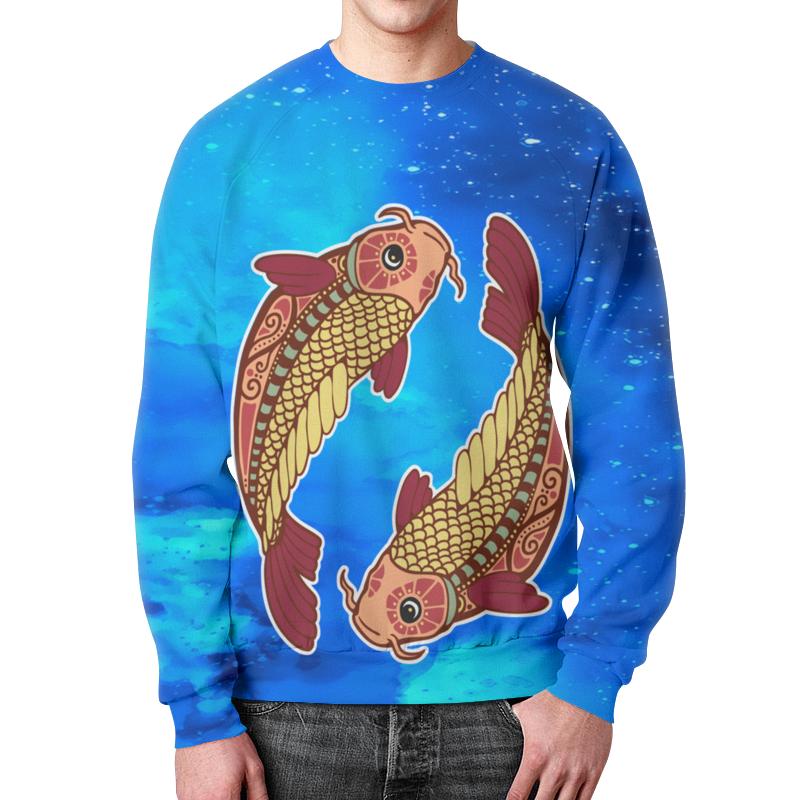 Свитшот мужской с полной запечаткой Printio Зодиак-рыбы подушка 40х40 с полной запечаткой printio зодиак рыбы