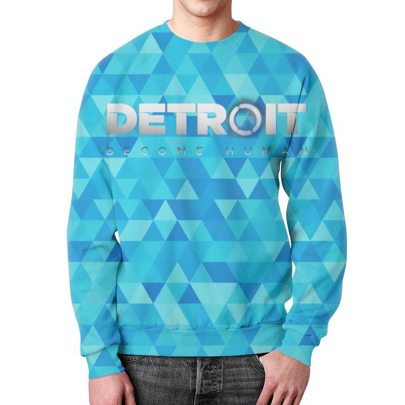 Свитшот мужской с полной запечаткой Printio Detroit: become human свитшот унисекс с полной запечаткой printio detroit become human