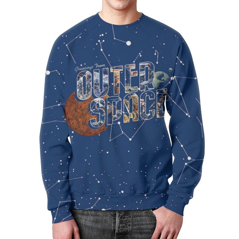 Свитшот мужской с полной запечаткой Printio Outer space свитшот print bar nebula space