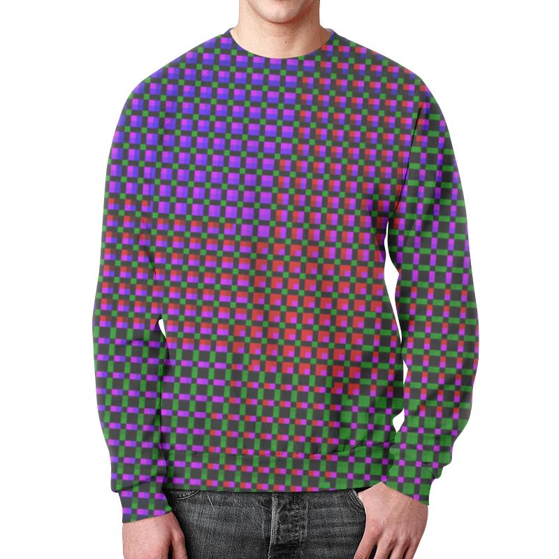 Свитшот мужской с полной запечаткой Printio Glitch art (индиго) glitch